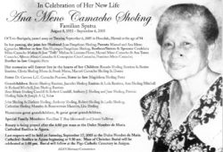 obituary-ana sholing