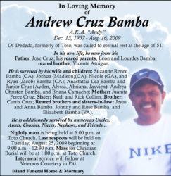 obituary-andrew Cruz Bamba