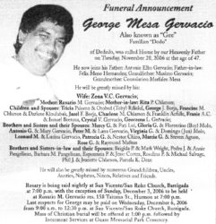 obituary-george gervacio